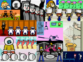 Rhythm Heaven Fever Collage by Alice-of-Africa