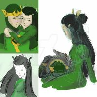 SketchbookMobile Loki x Leah Dump by darkelf19