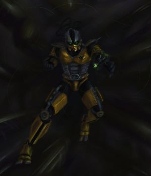 Cyrax - Charge by Aen-Riv