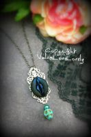 Blue Sugarskulls- Vulva Pendant by VulvaLoveLovely