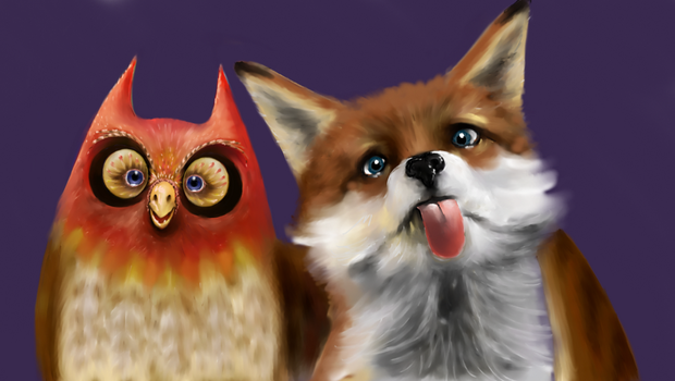 owl and fox WIPPY by JeremyMcCabe
