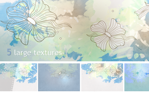 Textures - Blue paint by So-ghislaine