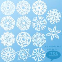 ITOL Let It Snow Brushes by imthinkingoutloud