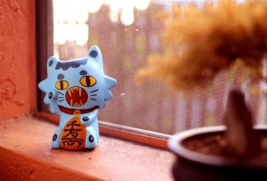 Nickle the Lucky Cat by ricebowlfactory