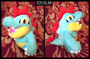 Feraligatr plush by d215lab