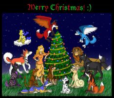 Merry Christmas 2011 by iFoxSpirit