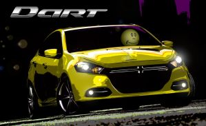 Mr. Smiley Test Drives a Dart by TomWilcox