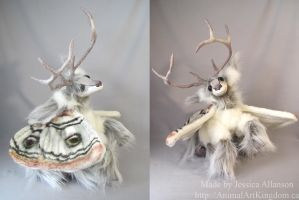 Poseable Deer Moth Art Doll by AnimalArtKingdom