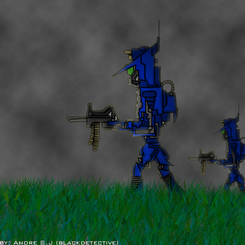 Robot War by blackdetective