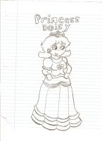 Princess Daisy Sketch by Nintendofan2013