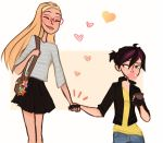 Cute and awkward hand holds. by arrival-layne