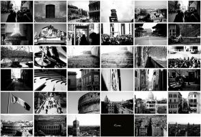Collage b and w Rome by Zim2687