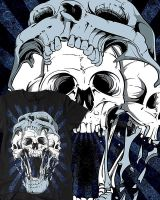 Skull In Skull T-Shirt Design by Oblivion-design