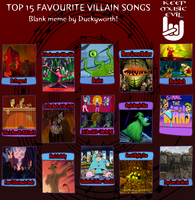 Top 15 Favorite Villain Songs Meme by DaJoestanator