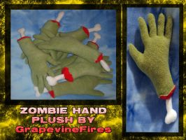 ZOMBIE HAND PLUSHIES by HatcoreHats