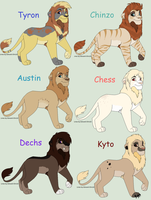 Male Lion Breedables [Closed] by Sukida-Adopts