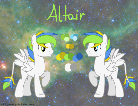 MLP: Altair reference sheet by SwirlingMelody
