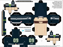 Max Unger Seahawks Cubee by etchings13