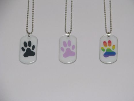 Paw dogtags by CaptainCheezmo