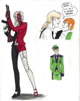 Femme!Two-Face and Riddler by CarpalTunnelLuv