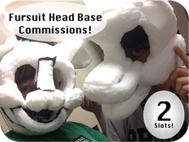 .:Fursuit Head Commissions OPEN!:. by FlamesVoices
