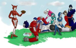 Optimus Prime Loves Football by iluvbee1990