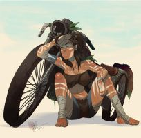 Sunburn Korra by lord-phillock