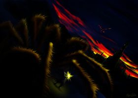 Morgoth and Ungoliant by magnusatthva