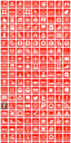Free Red Button Icons by aha-soft-icons