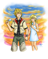 Day 05: Roxas and Namine by Andrea365