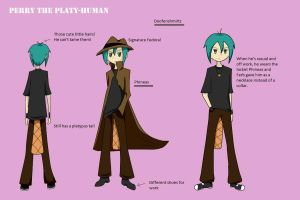 Perry the Platy-human by LovesDarkShadow