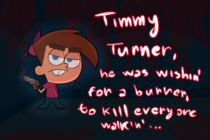 Timmy Turner, He Be Wishin' For That Burner by Spidzy
