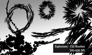 explosions - 600 DPI by screentones