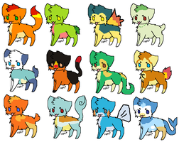 Pokemon Cats adoptables 2 by rongothepony