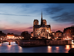 notre dame by night by LeMex