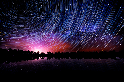 May 23rd 2014 Star Trail by blackismyheart90