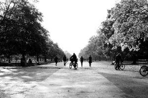 Cyclist at Hyde Park by Destroth