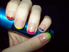 Colorful French Tips. by ffishy21