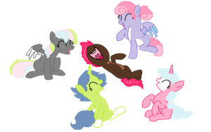 Pony Adoptables #4 OPEN CHEAP! by MockingJabberjay