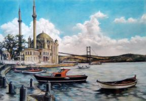Ortakoy Mosque by blackblacksea