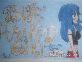 Blue haired girl by Dawn-Mayer