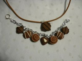 chocolate jewlry set by Death-n-Taxes