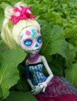 Monster High Custom Lagoona Blue Day of the Dead by AdeCiroDesigns