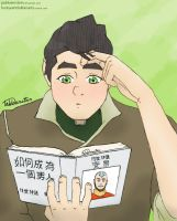 Headcanon: Bolin's hair by Pabloeinstein