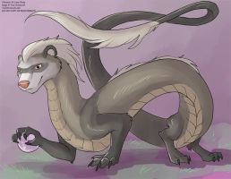 [Adoptable / Giveaway] Sable Ferret Dragon by Ulario