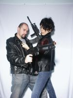 Couple With Guns 6 by cyber-stock