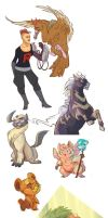 Pokemon Sketchdump by wanlingnic