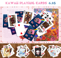 Kawaii playing cards by tho-be