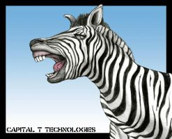 Laughing Zebra by CapitalT