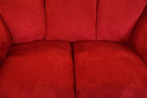 Red couch cushions by paintresseye